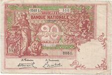 "20 francs type ""1894"" Vermillon  17-fevr-1920"