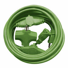 Martha Stewart Indoor Outdoor Multi-Outlet Extension Cord | 25-Foot | 14-Gauge