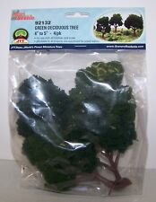 "JTT Scenery Green Deciduous Trees 4""-5"",  4/pk Super Scenic, 4/pk 92132"