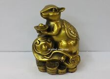 Feng Shui - 2017 Brass Rat on Ruyi Figurine