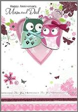 Mum and Dad Anniversary Card - Isabel's Garden - 19cm x 13cm - 3D embellishments