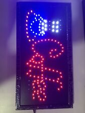 Animated Motion Running Led Business Open Sign + On/Off Switch Bright Light Neon