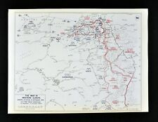 West Point WWII Map 21st Army Operations Liberation of Belgium Sept 15, 1944