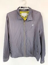 UFC As Real As It Gets Mens Full Zip Jacket Gray Winbreaker Cafe Style Sz XL
