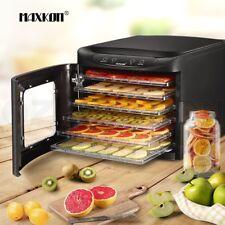 Maxkon 6 Trays Food Dehydrator Fruit Vegetable Meat Beef Jerky Dryer Marker New