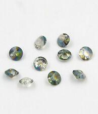 "12 pieces Swarovskii 8mm side hole ""Diamond shape"" Crystal bead D Hyaline green"