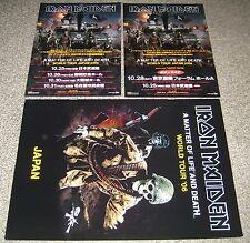 Iron Maiden JAPAN 2006 tour book LIFE & DEATH + 2 PROMO flyers CONCERT PROGRAMME