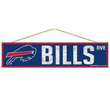 "Buffalo Bills 4""x17"" Wood Sign Avenue Design [NEW] NFL Wall Banner Street"