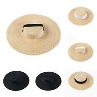 Ribbon Brim Beach Boater In Hat Tie For Hat Summer Wide Cap Straw Women Sun