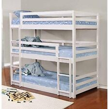 Coaster Home Furnishings 401302 Triple Bunk Bed White NEW