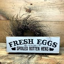 Fresh Eggs Wooden Sign, Chicken Coop Decor