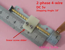 DC 5v linear screw slider block Mini Stepping Motor 2-phase 4-wire Stepper