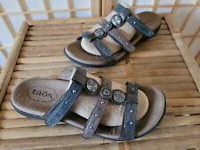Taos Festive Women's 3 Strap Studded Slide Sandals Sz 8