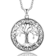 925 Sterling Silver Necklace Tree of Life Pendant Women Girls Jewelry Xmas Gifts
