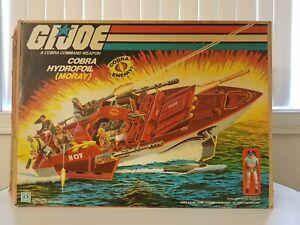 1985 GI Joe Cobra Moray Hydrofoil Boat w/Box Sticker sheet - Almost Complete