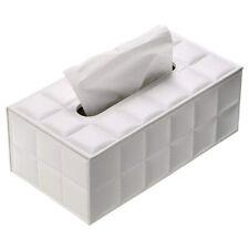 PU Leather Tissue Box Holder Rectangular Napkin Holder Paper Case Dispenser