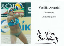 2x EM Gold - Beachvolleyball  - VASILIKI ARVANITI   **sign**