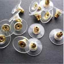 Earring Backs Stoppers Findings Ear Post Nuts Jewelry Findings Gold/Silver 50pcs