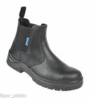 Himalayan 151B S1P SRC Black Chelsea Dealer Steel Toe Cap Safety Boots Work Boot