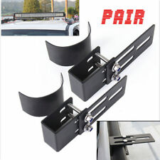 2pcs Car roof rack light bracket Luggage-rack bumper bull bar Mounting holder