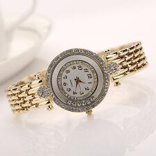 Women's New Fashion Heart Rhinestone Round Dial Analog Quartz Dress Wrist Watch