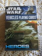 New, Sealed Star Wars Vehicles Playing Cards, Heroes