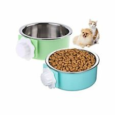 Dog Crate Water Bowl No Spill 2 Pack Crate Dog Bowl Removable Stainless Steel...