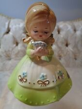 "Josef Originals ""Ecology Girl"" figurine with flowers"