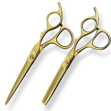 "6"" Gold Professional Barber Hair Cutting Thinning Shear Set Hairdressing Scissor"