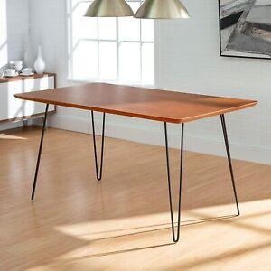 "Set of 4 Coffee Metal Hairpin Table Desk Legs Solid Iron Bar 2-Rod W/ Screw 28"""