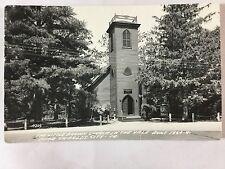 RPPC Little Brown Church in the Vale, Nashua, IA 1966 postcard