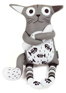 Cat with Black Scarf Soft Toy, 44CM  Christmas Gift, Soft Toy, Cat Soft toy