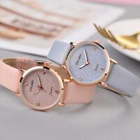YOLAKO Women's Starry Sky Watch Casual Quartz Leather Band Analog Wrist Watch