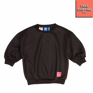 ADIDAS ORIGINALS EQUIPMENT Sweatshirt Size L / 13-14Y 164CM Textured 3/4 Sleeve
