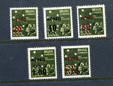 BRAZIL C55-59, 1944 SOUTHERN CROSS SURCHARGES, MINT, VLH,   (ID5096)