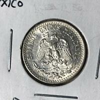 1935 Mexico 20 Centavos Silver Coin BU Condition