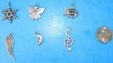 6pcs Tibet Silver Pendants LOT #22 Mixed Crafts Jewelry Making Charms