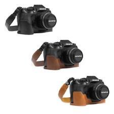 MegaGear Ever Ready Leather Camera Case for Olympus OM-D E-M1 Mark III, Mark II