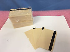 Beige CR80 .30 mil PVC Cards With Black Mag - HiCo 2 Track - Pack of 100 - Seal