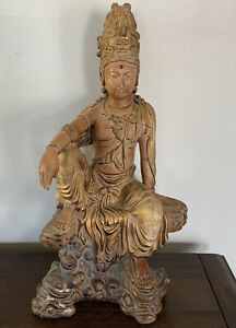 "Austin Productions Sculpture Buddha 1996 18"" Statue Figure"