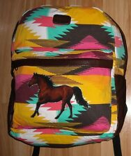 Girls HORSES Backpack~BillaBong~2 Compartment~NWT~SW~LapTop Sleeve~Single HORSE~