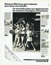 Publicité Advertising 067  1986  les vacances Interhome   locations