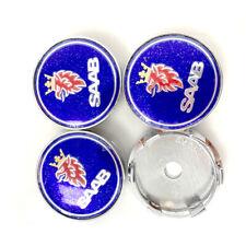 4x60mm fit Saab 900 9-3 9-5 9-3 95 Wheel Center Caps Hubcap Badge Emblem Alloy