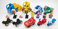 LEGO Duplo Vehicle Parts Lot - Lightning McQueen - Pieces Figures Police Cars