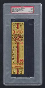 PSA 7 MICKEY MANTLE VINTAGE 1954 SENATORS @ NEW YORK YANKEES FULL TICKET - 4/18