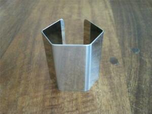 Lot of 8 (eight) Alessi for Delta Orloff Chrome Napkin Rings Geometric