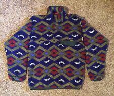 Men's Patagonia Synchilla Snap-T Fleece Pullover Jacket Geometric Tribal Pattern