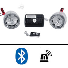 "Bluetooth 7/8"" Handlebar Mount Motorcycle Audio Radio MP3 Speaker Sound System"