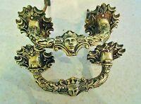2 Antiguas De Piano Bronce Oro Representación Del Rey Sol
