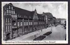 82396 AK Hindenburg O.-S. Zabrze 1939 Bahnhofspaltz Post Haus Metropol